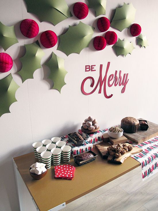 Office Decor Ideas Christmas Party Favors Wall Decorations N