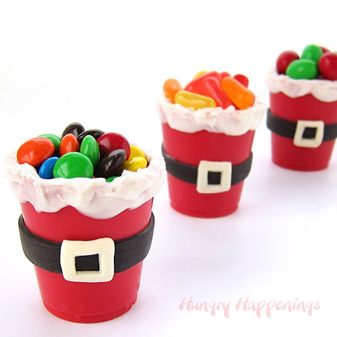 santa candy cup